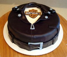 motorcycle jacket cake