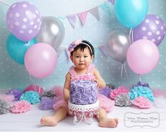 What Matters Most Photography : Broomfield, Colorado Newborn and Baby Photographer : Pink Blue and Purple Pastels Cake Smash Session Frozen First Birthday, Half Birthday Cakes, Unicorn Themed Birthday Party, 1st Birthday Cake Smash, Purple Birthday, Baby Girl Birthday, Twin Cake Smash, Cake Smash Photos, 1st Birthday Pictures