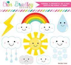 Weather Clipart – Erin Bradley/Ink Obsession Designs