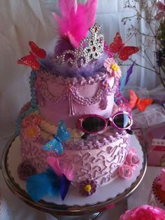 Fancy Nancy cake by Tracy W.