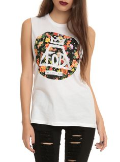 Fall Out Boy Floral Circle Girls Muscle Top | Hot Topic