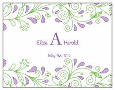 Wine Bottle Labels.  Printable Wedding Invitations Paisley Elise Suite: Purple and Green
