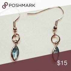 Genuine Swarovski Crystal Blue Earrings Beautiful, genuine Swarovski Crystal Earrings.  Nickel-free and hypoallergenic for sensitive skin. Swarovski Jewelry Earrings
