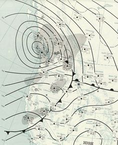 Weather map of Columbus Day Storm; 1962