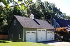 Detached Attic Three Car Garage Prices from Sheds Unlimited of Lancaster, PA. Buy a Three Car Garage with attic and loft area. Buy direct from the builder. Rv Garage Plans, 3 Car Garage, Garage Ideas, Garage Signs, Garage Attic, Garage Doors, Metal Garage Buildings, Metal Garages, Garage Prices