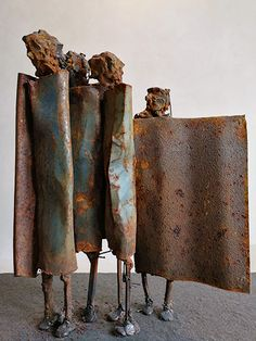 Mixed media & metal sculptures gallery of Johan P Jonsson. Buy sculptures from famous artists gallery. Metal Sculpture Artists, Abstract Sculpture, Bronze Sculpture, Wood Sculpture, Sculpture Rodin, New Media Art, Scrap Metal Art, Found Art, Artist Gallery