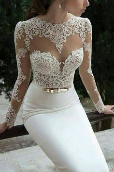 #Wedding dress with golden #bow