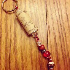 Cupcake wine cork keychain  on Etsy, $15.00