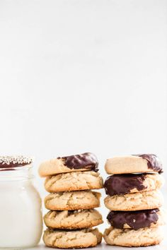 "Tahini Maple Cookies. A sweet and easy ""one bowl"" cookies kids love."