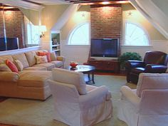 attic retreat:  sectional; seating