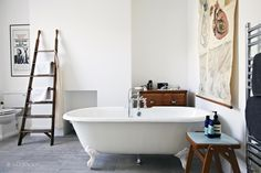 This London location house is lovely family home with a kitchen extension. Spacious rooms with good light for photo shoots, TV and Film Cast Iron Bath, Mad About The House, Modern Home Interior Design, House Of Fraser, Shabby Chic Homes, Beautiful Bathrooms, Rustic Design, Old Houses, London