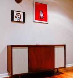 rehabbed vintage stereo cabinet