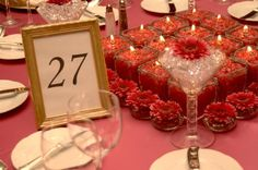 Rasberry Color Scheme Wedding Table Decorations Chair Covers Linens and Centerpieces for Wedding Receptions