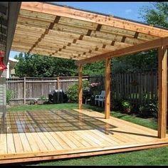 Wood Patio, Patio Roof, Pergola Patio, Back Patio, Diy Patio, Small Patio, Small Pergola, Cheap Pergola, Pergola Kits