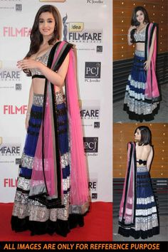 Classy Party Wear Lehenga Choli Alia Bhatt Replica Fabric - Baby Pink Micro Japanese Net Blouse - Semi stitched blouse on dhupion with heavy work Lehenga - Navy Blue Micro net with heavy Embroidery Work on Border type Size - Upto 42 More details Reference : Rep12 http://valehri.com/bollywood-replica/348-classy-party-wear-lehenga-choli-ayila-bhatt-replica.html