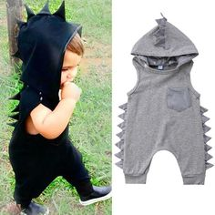 Buy Newborn Kids Baby Boys Girls Dinosaur Romper Jumpsuit Bodysuit Clothes Outfits at Wish - Shopping Made Fun Girl Dinosaur, Dinosaur Design, Baby Boy Outfits, Kids Outfits, Summer Outfits, Romper Suit, Jumpsuit, Baby Dinosaurs, Boy Or Girl