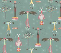 The Birdman Takes the Show fabric by kayajoy on Spoonflower - custom fabric