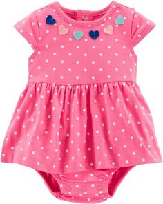 4e404d893 Baby Girl Polka Dot Heart Sunsuit from Carters.com. Shop clothing &  accessories