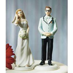 """""""Geek"""" Groom Wedding Cake Topper"""