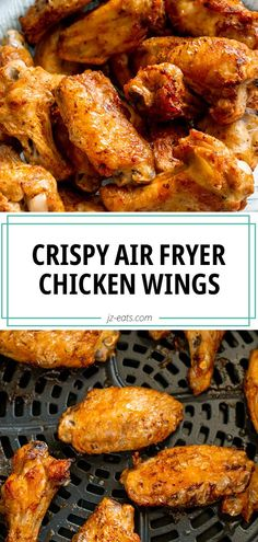 Looking for a healthier twist on traditional wings? These Crispy Air Fryer Chicken Wings will do the trick. Crispy and yummy, your family and friends will keep asking for them again and again! #airfryerrecipes #airfryerwings Air Fryer Recipes Chicken Wings, Air Fryer Oven Recipes, Air Frier Recipes, Air Fryer Dinner Recipes, Chicken Wing Recipes, Crispy Chicken Wings, Air Fryer Fried Chicken, Chicken Wings Airfryer, Deep Fry Chicken Wings