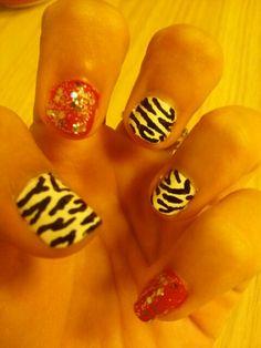 Zebra and pink sparkle
