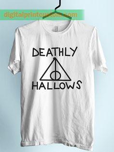 672e1313 harry Potter Deathly Hallows Symbol Unisex Adult Tshirt