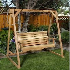 RED CEDAR A FRAME STAND & 5ft. PORCH SWING BY ALL THINGS CEDAR