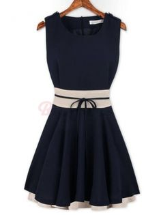 Elegant Sleeveless High-Waisted Flouncing Women's Prom Dress Chiffon Pleated Dress on buytrends.com