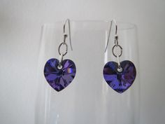 SWAROVSKI CRYSTAL HEART EARRINGS Available Online To Buy From Christals For A Great Deal On SWAROVSKI CRYSTAL HEART EARRINGS Or Any Other Unique Handmade Craft Gifts And Creative Gift Ideas Visit Stallandcraftcollective.co.uk #5016