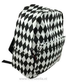 Diamond Game Check Black-White Check Rucksack  Price: €19.95  http://www.clarabella.nl/accessories/bags/rucksack/check/diamond-game-check-black-white-check-rucksack/   15% discount on EVERYTHING in our store. Sign up here to receive your personal discount code:http://eepurl.com/boSy7H