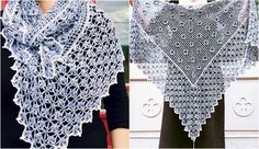 Mitsuko Garden Shawl is a lacy top down crocheted shawl inspired by the clear structures of Japanese garden art. The pattern is designed to create a rectangular triangle, starting at center neck. T…