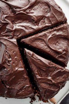 sliced chocolate cake #chocolate #cake #hersheys Dense Chocolate Cake Recipe, Chocolate Turtle Cakes, Decadent Chocolate Cake, Chocolate Buttercream Frosting, Best Chocolate Cake, Chocolate Flavors, Chocolate Ganache, Chocolate Desserts, Sweet Recipes