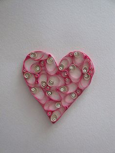 Custom Quilling Paper Heart for Home Decor Personalized Paper
