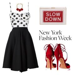 """""""60 Second Style: NYFW After Party"""" by tania-alves ❤ liked on Polyvore featuring moda, Maison Rabih Kayrouz, Aquazzura, Anya Hindmarch, Topshop e nyfwafterparty"""