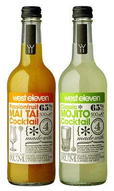 westeleven-02, via Flickr. Like the retro design label, love how West 11 becomes martini glasses. There's a nostalgic and wonderfully modern feel to the labels.