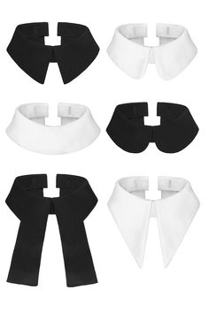 Interchangeable collars that seamlessly attach to both tops and dresses, giving you an instant new wardrobe and a variety of looks effortlessly. All of the coll Gothic Fashion, Diy Fashion, Fashion Design, Fashion Tips, Fashion Clothes, Origami Fashion, Style Fashion, Mein Style, Detachable Collar