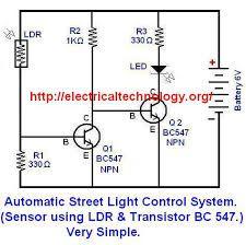Automatic Street Light Control System using LDR & Transistor BC 547 ...