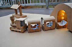 Juguetes con cajas de cartón recicladas   Decorar tu casa es facilisimo.com