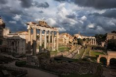 When we first got to Rome I was jonesing to see ruins baby! So Valerie Jardin Ugo Cei his lovely wife and Ken Lyons trekked over to see the Roman Forum.   Although it's a better sunrise than sunset place (we were there in the late afternoon)... to my utter joy and delight there was an AWESOME sky! Valerie rolled her eyes at me... and we giggled once again at the differences between her as a street photographer and me as a landscape photographer. Skies are one of those differences.  So we…