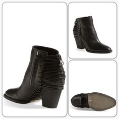 """•HP•✨Dolce Vita Booties✨ A standout ankle booties flaunts a rustic-ranch ready silhouette with a dose of urban flair,thanks to leather laces that wrap the rise and heel/almond toe/woven strap detail along shaft and back/side and back zipper closure/shaft height: 7.5"""" approx/opening circumference: 12.5""""/heel height: 3.25""""/leather upper/synthetic and textile lining/synthetic sole/new without box/thanks for looking❌No Trades❌                                                       ❌No PayPal❌…"""