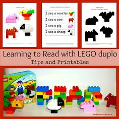 Learning to Read with LEGO Duplo (Photo from The Educators' Spin On It)
