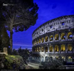 Colisseum (Rome Italy) - stock photo