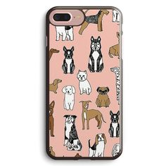 Dogs Dogs Dogs Pink Background Apple iPhone 7 Plus Case Cover ISVA890