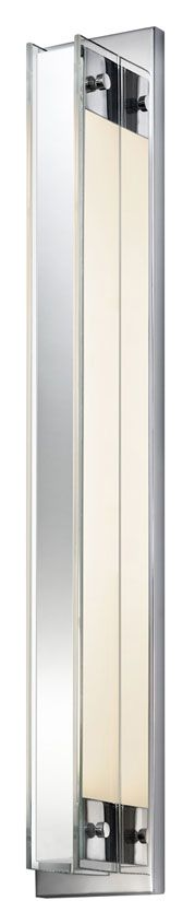 Accanto One Light Bathroom Vanity Light Bathroom Vanity Lighting, Wall Sconce Lighting, Wall Sconces, Light Bathroom, One Light, White Light, White Acrylics, Modern Lighting, Polished Chrome