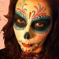 Sugar skull face.