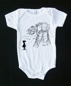 My Star Wars AT-AT Pet - Baby Onesie Bodysuit ( Star Wars baby onesie ). $15.00 USD, via Etsy.