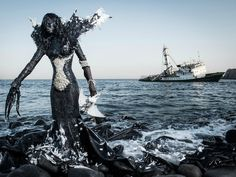Photo Series Raises Awareness About Environmental Problems with Costumes Made from Garbage   Junkculture