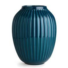 Hammershøi Vase H 25 cm, Petrolium Blau, Kähler