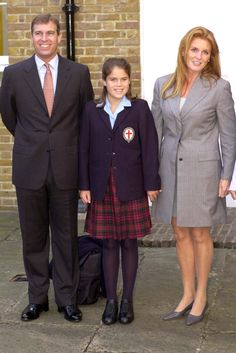 .The Duke and Duchess of York with their daughter, Princess Eugenie.