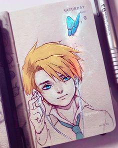 Kpop Drawings, My Drawings, Manga Anime, Anime Art, Art Calendar, Witch Art, Magic Art, Sketch Inspiration, Anime Kawaii
